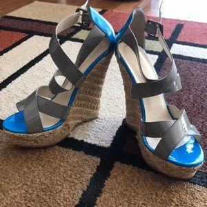 Grey wedge heel
